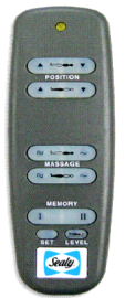 Sealy Memory Adjustable Electric Bed Remote