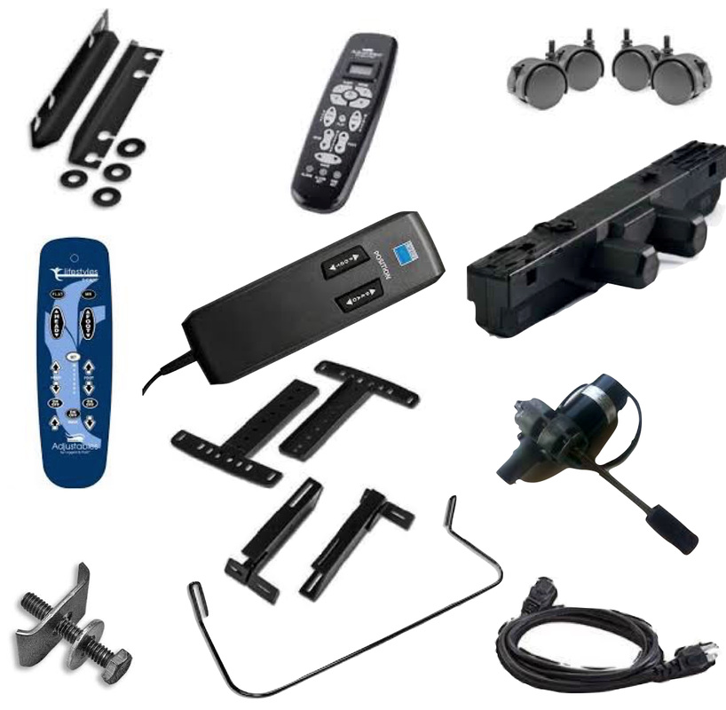 We sell ergomotion adjustable bed parts motors remotes for Adjustable bed motor replacement